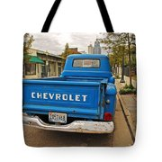 Blue Chevy Tailgate Tote Bag