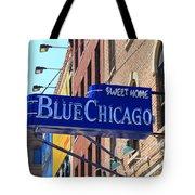 Blue Chicago Club Tote Bag