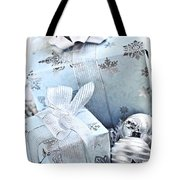 Blue Christmas Gift Boxes Tote Bag