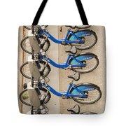 Blue City Bikes Tote Bag