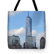 Blue City Skyline Tote Bag