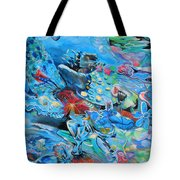 Blue Confusion Tote Bag