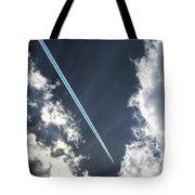 Blue Contrail Tote Bag
