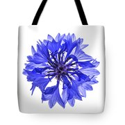 Blue Cornflower Flower Tote Bag