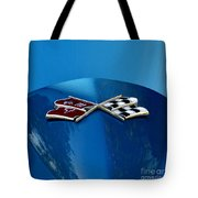 Blue Corvette Tote Bag