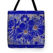 Blue Cosmos Abstract Tote Bag