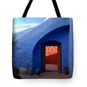 Blue Courtyard Tote Bag