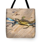 Blue Crab On Dock Assateague Island Md Tote Bag