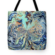 Blue Crazy Lace  Tote Bag