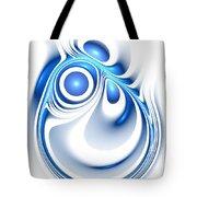 Blue Creation Tote Bag