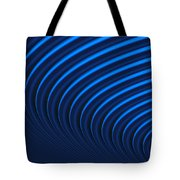 Blue Curves Tote Bag