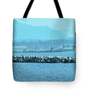 Blue Customs Tote Bag