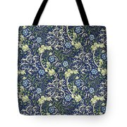 Blue Daisies Design Tote Bag by William Morris