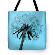 Blue Dandelion Wish Tote Bag