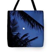 Blue Dawn Moon Tote Bag