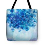Blue Delphiniums Tote Bag