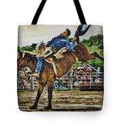 Blue Denim Rider Tote Bag