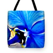 Blue Diamond Orchid Close Up Tote Bag