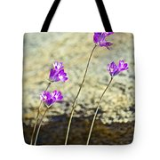 Blue Dicks Sway In A Breeze By Lower Palm Canyon Trail In Indian Canyons Near Palm Springs-california Tote Bag