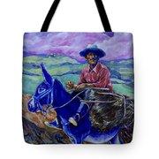 Blue Donkey Tote Bag