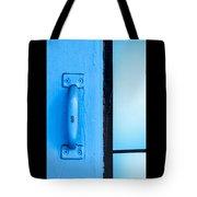 Blue Door Handle Tote Bag