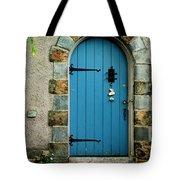 Blue Door In Baltimore Tote Bag
