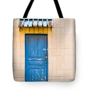 Blue Door With A Lock Tote Bag