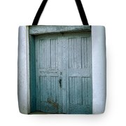 Blue Doors On Brewer Street Tote Bag