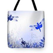 Blue Dragonfly Art Tote Bag