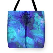 Blue Dragonfly By Sharon Cummings Tote Bag by Sharon Cummings