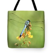 Blue Dragonfly On Yellow Flower Tote Bag