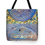 Blue Drains Tote Bag