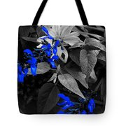 Blue Drippings Tote Bag
