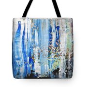 Blue Earth Abstract Tote Bag