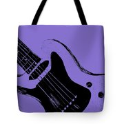 Blue Electric Guitar Tote Bag