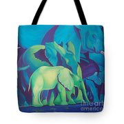 Blue Elephants Tote Bag