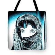 Blue Eye Lady Tote Bag