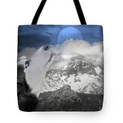 Blue Eyed And Moon Tote Bag