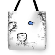 Blue Eyed Pup Tote Bag