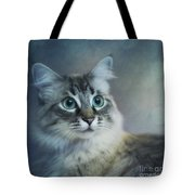 Blue Eyed Queen Tote Bag