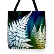 Blue Fern Leaf Art Tote Bag