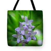 Wild Blue Field Madder Tote Bag