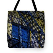 Blue Fire Escape Tote Bag