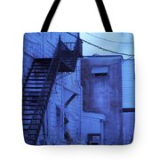 Blue Fire Escape Usa Near Infrared Tote Bag