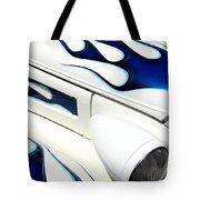 Blue Fire Tote Bag
