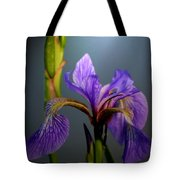 Blue Flag Iris Flower Tote Bag