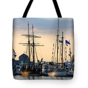 Blue Flags Tote Bag
