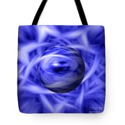 Blue Flame Background Tote Bag