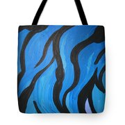 Blue Flames Of Healing Tote Bag
