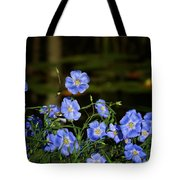 Blue Flax By The Pond Tote Bag